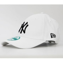 New Era New York Yankees Blanc Casquette 9forty Strapback Sangle