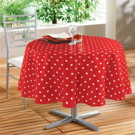 Nappe Ronde Lollypop Rouge - Toile Cir�e