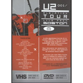 U2 ELEVATION TOUR LIVE FROM BOSTON PLAQUETTE CARTONNEE/PLAN MEDIA