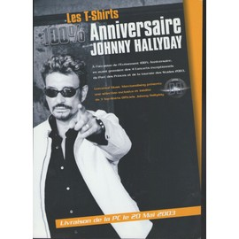 JOHNNY HALLYDAY 100 % ANNIVERSAIRE TEE SHIRTS TRES PLAQUETTE PLAN MEDIA PLV RARE