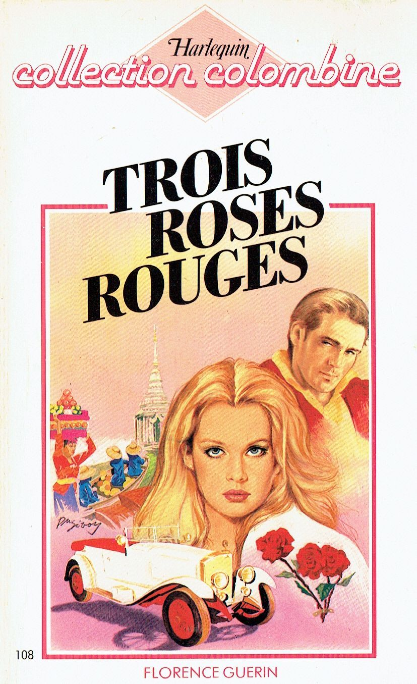 Trois roses rouges - Florence Guérin - Colombine