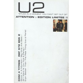 U2 STUCK IN A MOMENT YOU CAN'T GET OUT OF POSTER/PLAN MEDIA
