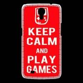 Coque Samsung Galaxy Mega Keep Calm Play Games Rouge