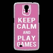 Coque Samsung Galaxy Mega Keep Calm Play Games Rose