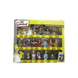 Simpsons 20th Anniversary Coffret Collector 21 Figurines Pvc 8 C