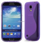 Samsung Galaxy S4 Iv Mini I9190 I9195 : Coque Silicone Gel Tpu Etui Housse Motif Ligne S S-Line Vague Couleur Mauve