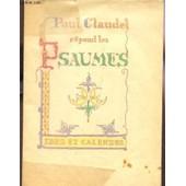 Paul Claudel Repond Les Psaumes. de paul claudel
