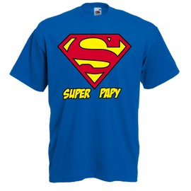 T-Shirt Super Papy - Tee Shirt Fete Des Grand Peres