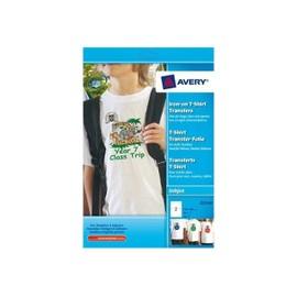 Avery T-Shirt Transfer - Papier Transferts Sur T-Shirt - Blanc - 148.4 X 210 Mm 40 Unit�s ( 20 Feuille(S) X 2 )