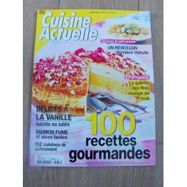 Cuisine Actuelle 277 100 Recettes Gourmandes,Delice A La Vanille,Saumon Fume,Riz