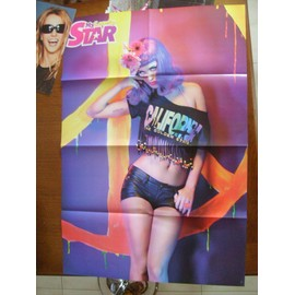 POSTER KATY PERRY 84CM/58CM VERSO JE GROUPE BLEACK EYES PEAS