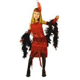 D�guisement Charleston Rouge Fille, Taille 10 � 12 Ans
