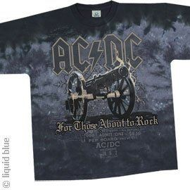T-Shirt AC/DC - Cannon - Homme - X Large - Import Direct USA