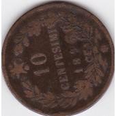 Pi�ce En Alliage De Bronze, De 10 Centesimi 1893, Sous Umberto 1 Regent D'italie