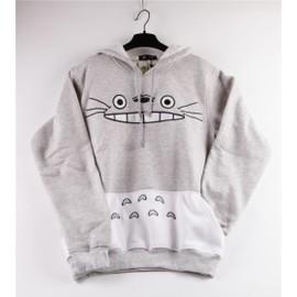 Sweat Shirt Hoodies Pull Capuche Tonari No Totoro Mon Voisin Totoro Casual Chaud Confortable Mignon Kawaii Fan Miyazaki Black Sugar Cosplay D�guisements Boutique Paris