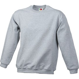 Sweat Shirt Couleur Gris Chin� - Fruit Of The Loom