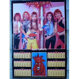 poster calendrier 1986 Iron Maiden