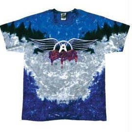 T-Shirt Aerosmith - Drip Logo Tie Dye - Homme - Large - Import Direct USA