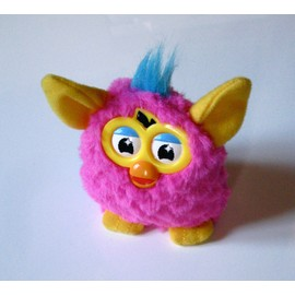 Jouet Peluche Furby Rose, Jaune Et Bleu (Happy Meal Mc Donald's)