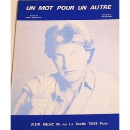 Partition JEAN-JACQUES LAFON - Un Mot Pour un Autre -  vintage sheet music