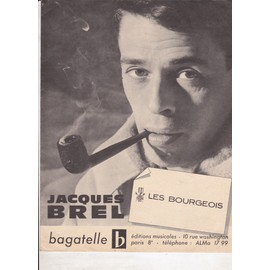 les bourgeois, Jacques brel, piano, voix, accords