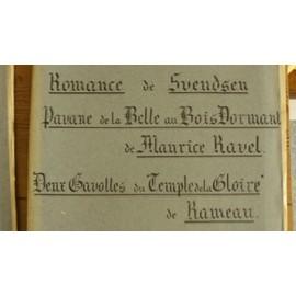 Romance de Swendsen - Pavane à la Belle au Bois Dormant de Maurice Ravel