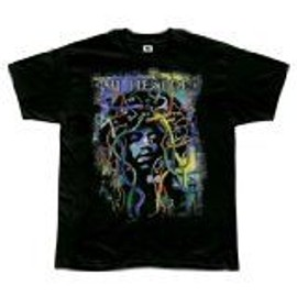 T-Shirt Jimi Hendrix - Psychedelic Plugs Soft - Homme - Large - Import Direct USA