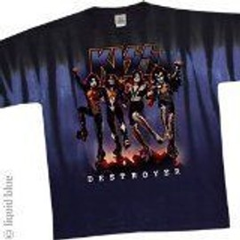 T-Shirt Kiss - Destroyer - Homme - X Large - Import Direct USA