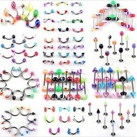 Lot De 100 Piercings Neufs Mix Tous Diff�rents Revendeur Grossiste