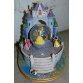 Snowglobe Boule Neige Belle B�te Aurore Blanche Neige Princesse Disney