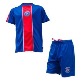 Maillot + Short Psg - Collection Officielle Paris Saint Germain - Football Ligue 1 - Taille Enfant Gar�on