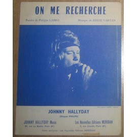 Johnny Hallyday - Partition On me recherche (Format)