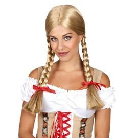 Perruque Cheveux Blonds Avec Nattes