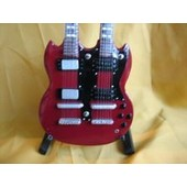 Guitare Miniature Led Zeppelin * Jimmy Page Double Neck