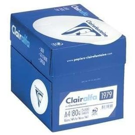 Lot 5 Ramettes Papier Clairefontaine A4 80g Blanc