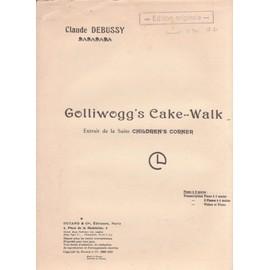 partition golliwogg's cake-walk  extraits de la suite children's corner  piano à 2 mainsde claude debussy