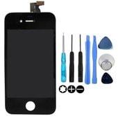 Vitre Tactile Iphone 4 Noir + Ecran Lcd + Kit Outils Pour Reparation Iphone 4
