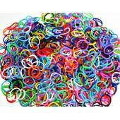 Lot De 600 Elastiques Color Melange De Couleur + 24 S Clips