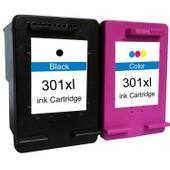 Pack Cartouches D'encre 301xl Noir Et 3-Couleurs Compatibles Hp 301 Xl