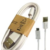 Cable Blanc Data Et Charge Origine Samsung Micro Usb Ecb-Du4awe