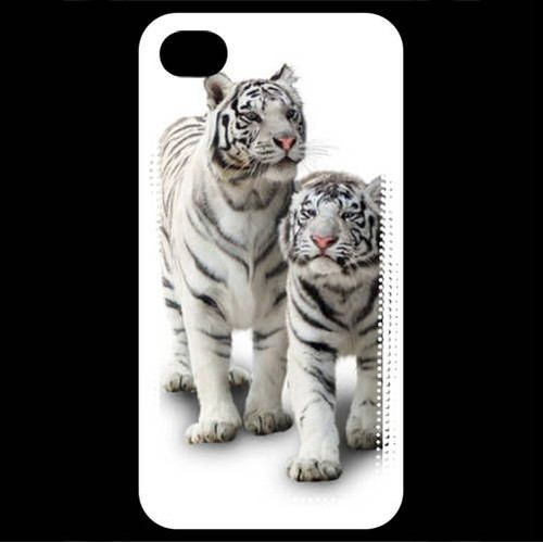 Coque iPhone 4 / iPhone 4S Tigre blanc | Rakuten