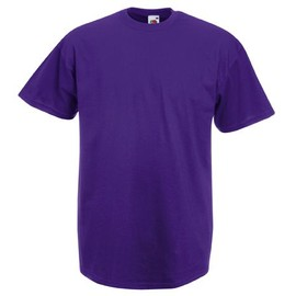 T-Shirt Couleur Violet / Purple - Tee Shirt Fruit Of The Loom