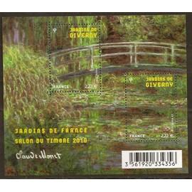 "Feuillet ""Jardins de France - Salon du timbre 2010 ""Jardins de Giverny"""" YT N°F4479"