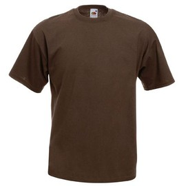 T-Shirt Couleur Chocolat - Tee Shirt Fruit Of The Loom