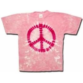 T-Shirt Pink Peace - Homme - Medium - Import Direct USA