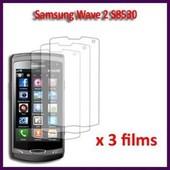 Samsung Wave 2 S8530 : Lot / Pack De 3x Films De Protection D'�cran Clear Transparent Excellente Qualit�