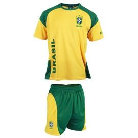 Maillot + Short Du Br�sil - Collection Officielle Equipe Selecao Brasil - Football - Taille Enfant Gar�on