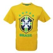 T-Shirt Du Br�sil - Collection Officielle Equipe Selecao Brasil - Football - Blason Maillot - Tee Shirt Taille Enfant