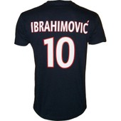 T-Shirt Psg Zlatan Ibrahimovic N�10 - Collection Officielle Paris Saint Germain - Blason Maillot - Tee Shirt Taille Enfant Gar�on