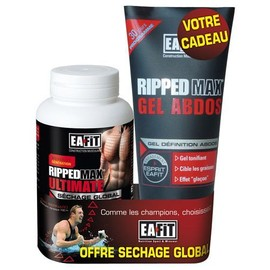 Ea Fit Ripped Max - Ultimate S�chage 120 Comprim�s + Ripped Max Gel 200 Ml